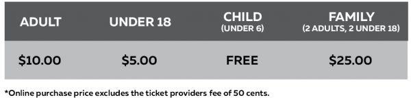 2020 Ticket Prices